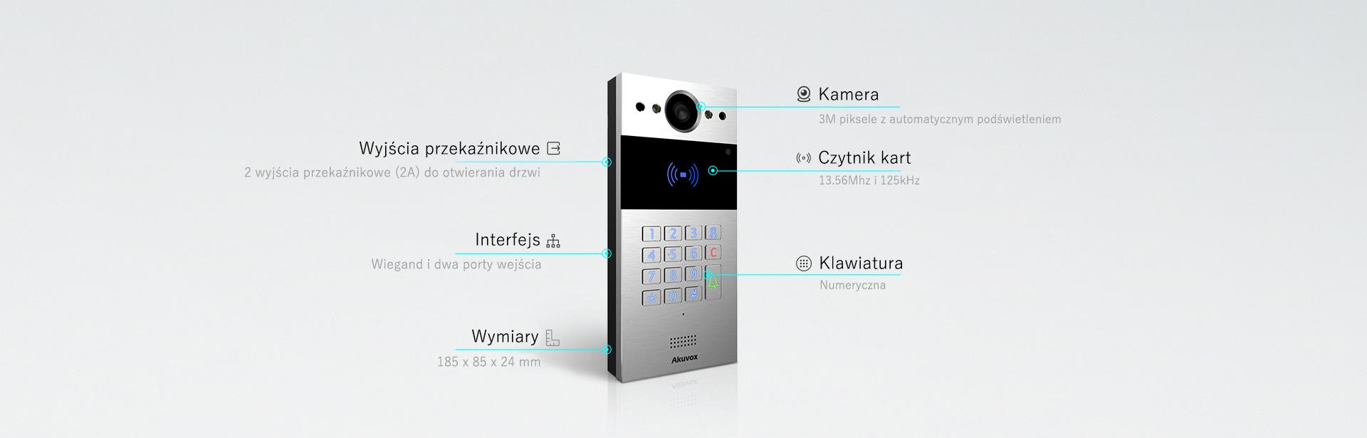 wideodmofon IP SIP Akuvox R20K