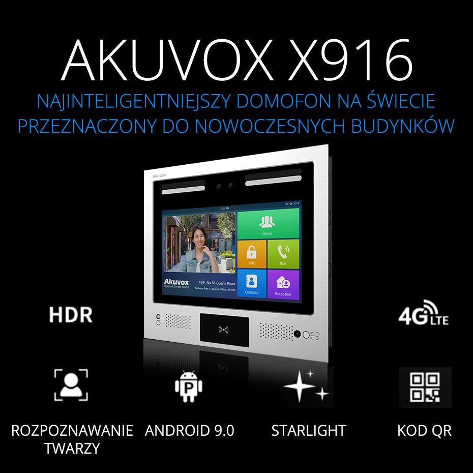 AKUVOX 916 - najinteligentniejszy domofon na świecie przeznaczony do nowoczesnych budynków